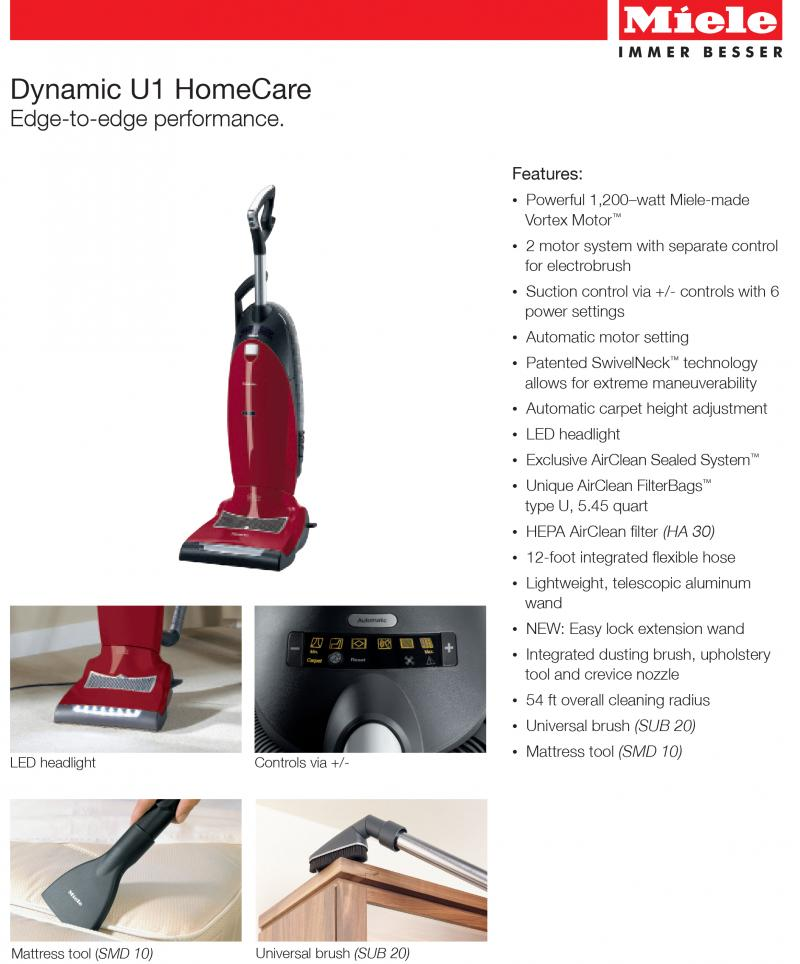 Miele Dynamic U1 Upright vacuum